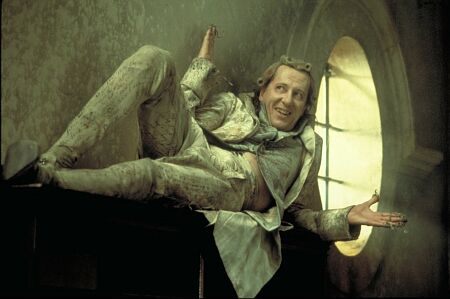 Actor Geoffrey Rush as the Marquis de Sade in the film Quills