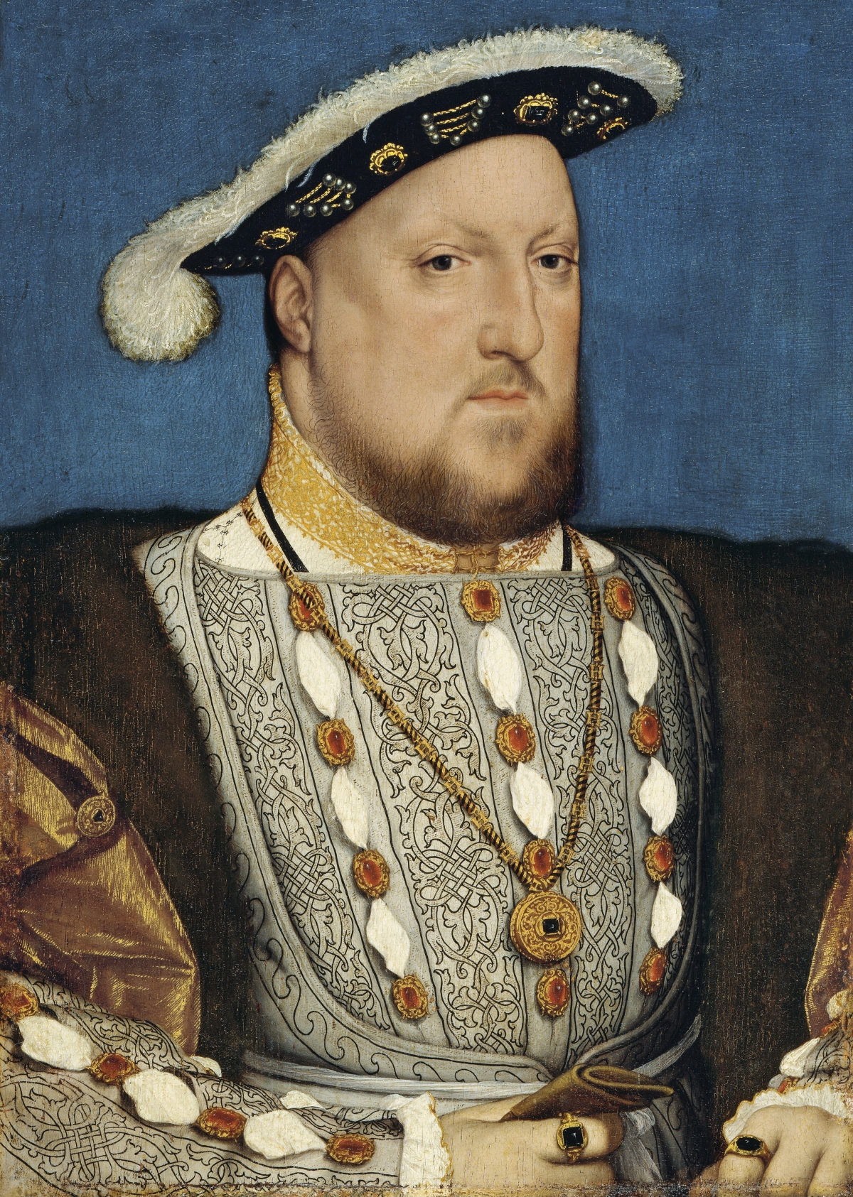 Hans Holbein, the Younger, Around 1497-1543 - Portrait of Henry VIII of England (Thyssen-Bornemisza Museum)