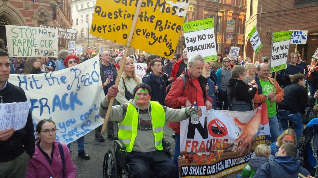 Manchester fracking protest