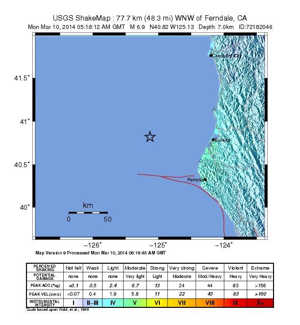 California earthquake 2014