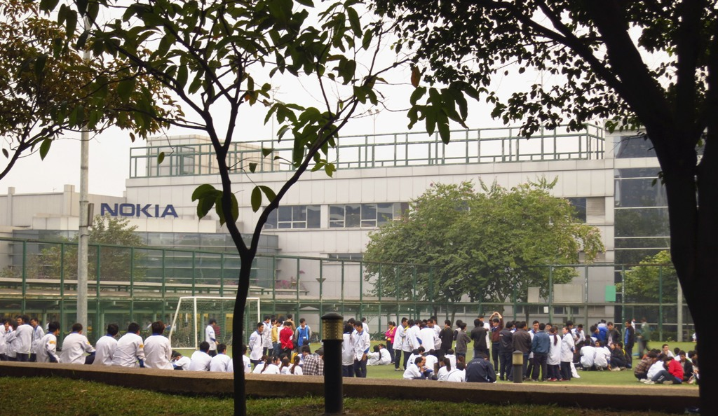 Nokia Factory Strike Dongguan China