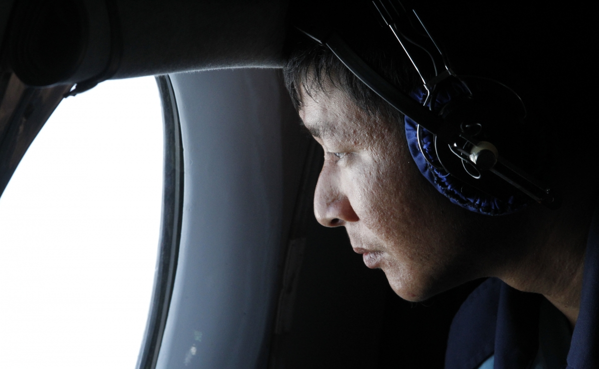 mission of malaysian airlines An indonesian air force personnel during a search mission for a malaysian airlines aircraft on board of a military surveillance airplane over the malacca straits 78/115 missing malaysian airliner.