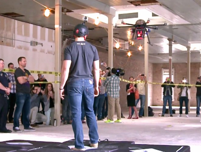 CUPID Flying Taser Drone Live Test - shocking an intern with 80,000 volts