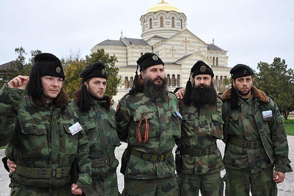 Ukraine protests Chetnik serb in Crimea