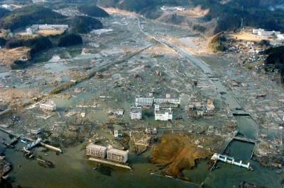 tsunami aerial