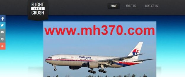 Malaysian Airlines Flight MH370 Website Sold on eBay