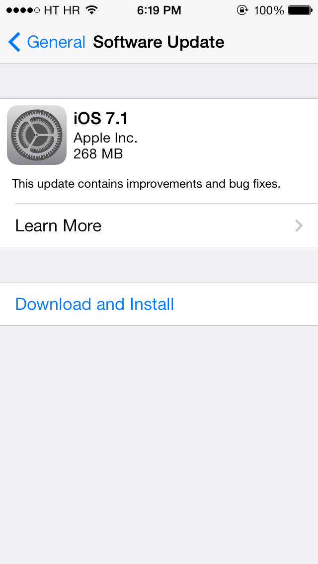 iOS 7 1 Released with Home Screen Crash Fix, CarPlay Support and