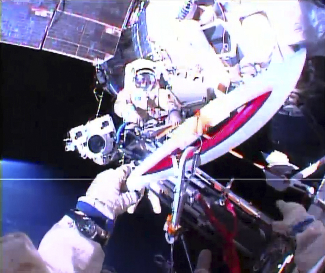 Olympic Sochi torch in space