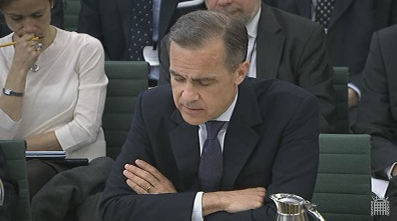 Bank of England Governor Mark Carney in parliament