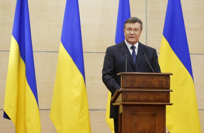 Ukraine Crisis President Viktor Yanukovich press conference