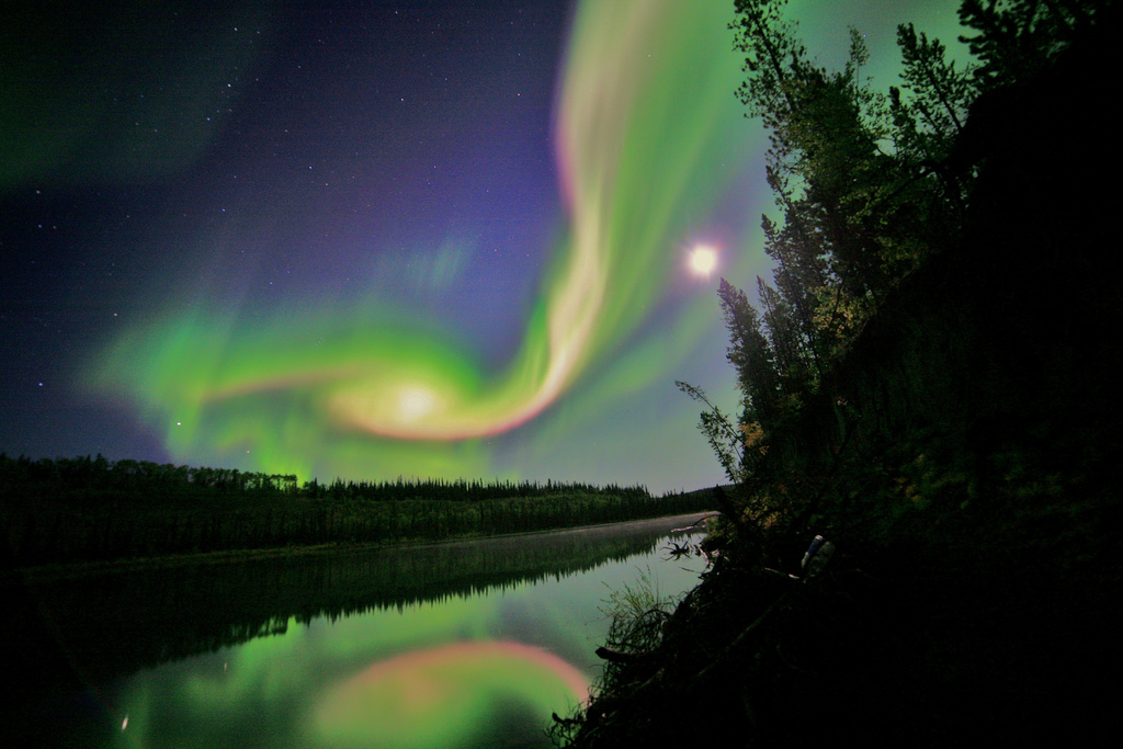 nasa cosmos image northern lights
