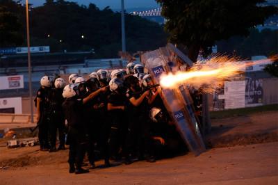 2013 tear gas night