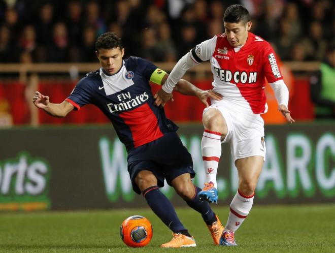 Thiago Silva and James Rodriguez