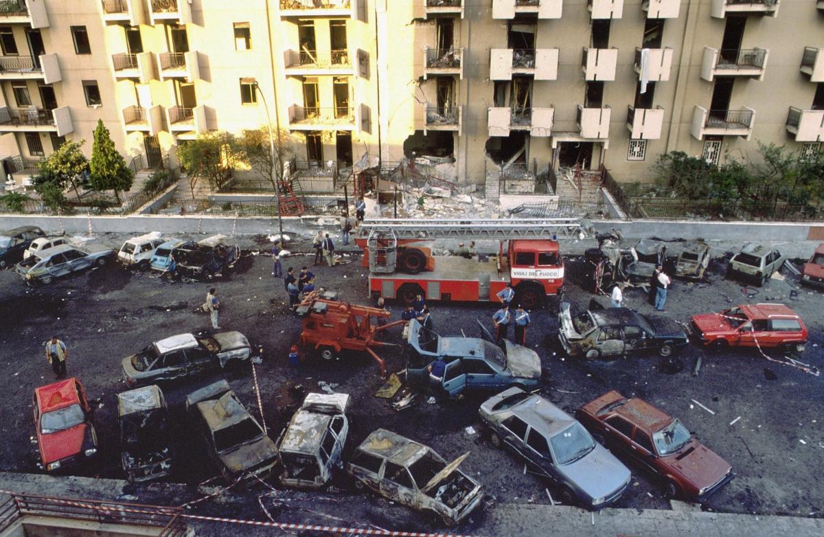 Via DAmelio Massacre Paolo Borsellino