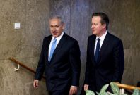 Cameron Abbas Netanyahu Israel Palestine Peace Deal Middle East