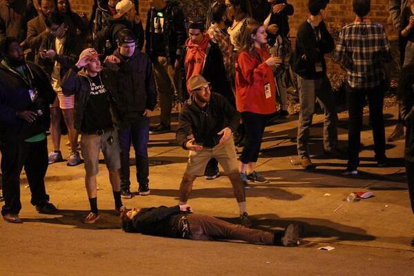 Scene Outside Mohawk Bar Following Fatal Car Chase at SXSW in Austin, Texas