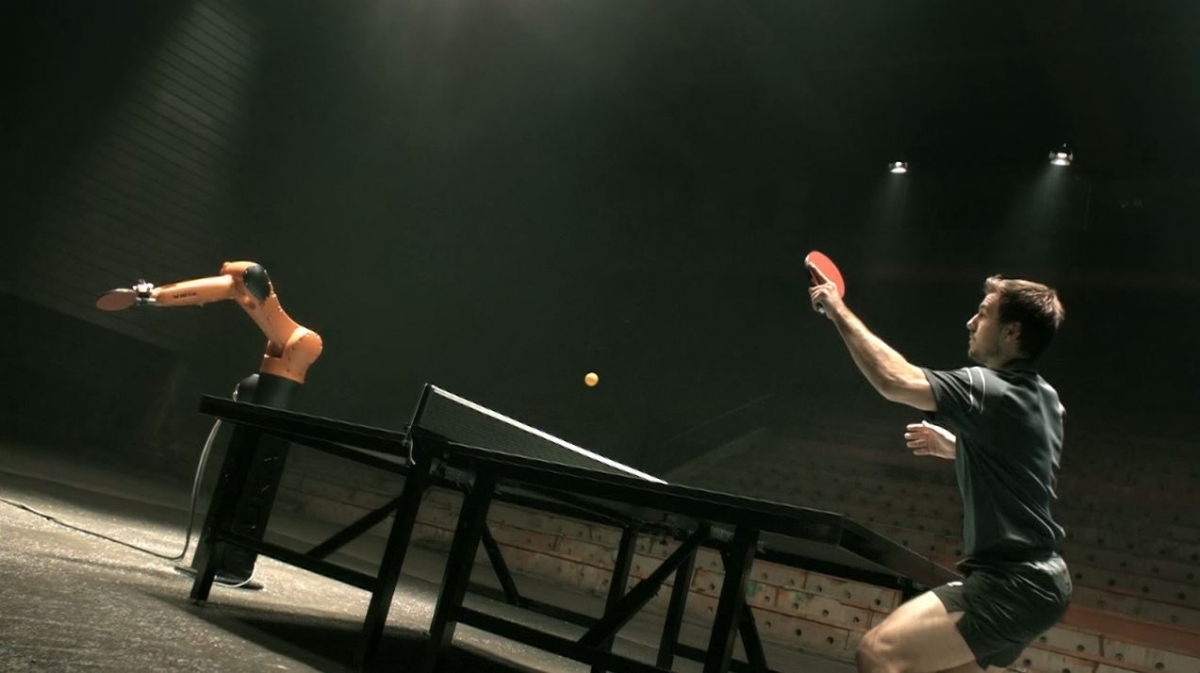 Table Tennis Champ Timo Boll Beats World's Fastest Robot