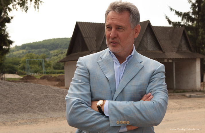 Dmitry Firtash in his home village of Sinkiv