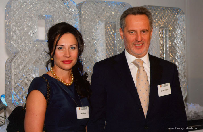 Dmitry Firtash with his wife Lada
