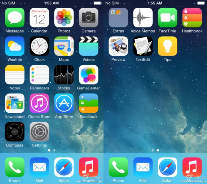 iOS 8: New Leaked Screenshot Reveals Healthbook, Preview and TextEdit Icons