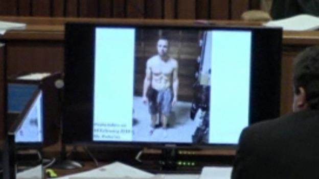 Picture of Oscar Pistorius taken soon after he killed Reeva Steenkamp was show in court