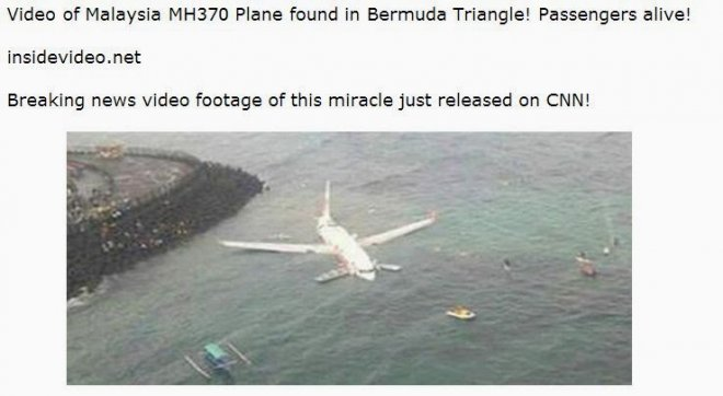 Malaysian Airlines Finally Found Video a Scam