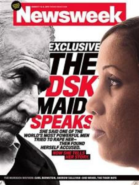Newsweek cover to be released July 25, 2011 shows Dominique Strauss-Kahn and the alleged victim in the case, Nafissatou Diallo in this handout image released to Reuters