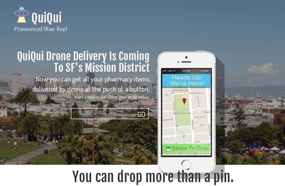QuiQui flying drone prescription delivery service launched in San Francisco