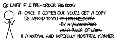xkcd comic - What if I pre-order Randall Munroe's new book?