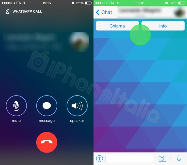 WhatsApp Voip Ios leaked images