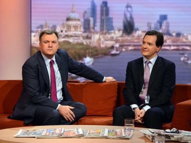 UK Chancellor George Osborne and Shadow Chancellor Ed Balls outline their messages on the Andrew Marr Show ahead of March's Budget.