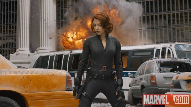 Scarlett Johansson stars as Black Widow in The Avengers