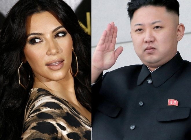 Kim Kardashian and Kim Jong-un