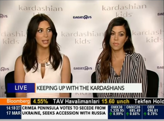 Kim Kardashian Backs Facebook Sheryl Sandberg 'Ban Bossy' Campaign on Bloomberg TV
