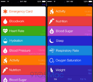 Healthbook App Screenshot - Blood pressure, heart rate, oxygen saturation