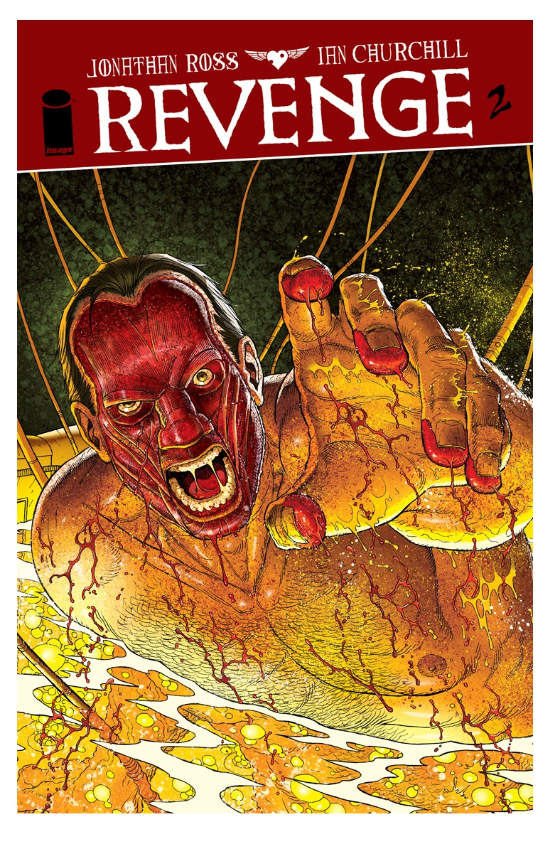 Revenge Comic Book: After Grffin Franks loses the flesh on his face and becomes the Revenger