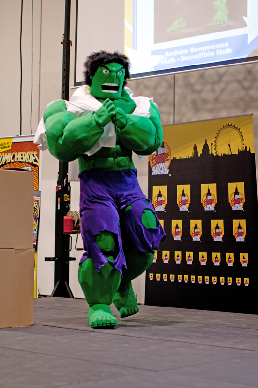 Andrew Semmence as the Incredible Hulk