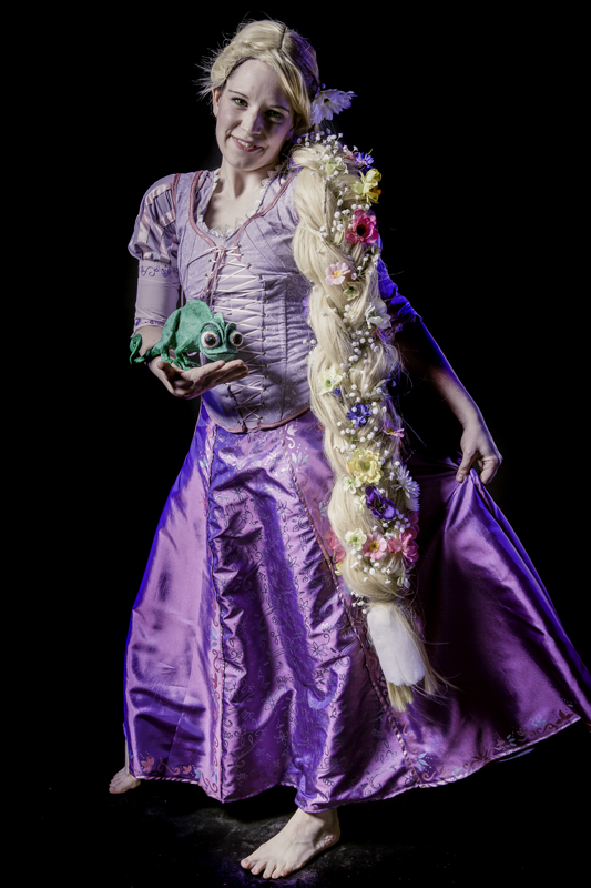 Lany Ryddle as Rapunzel from Tangled