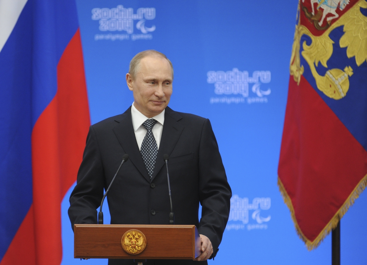 Russia's President Vladimir Putin signs decree recognising Crimea as independent and sovereign state.