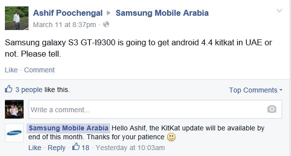 Will Galaxy S3 Get KitKat Update by End of March?