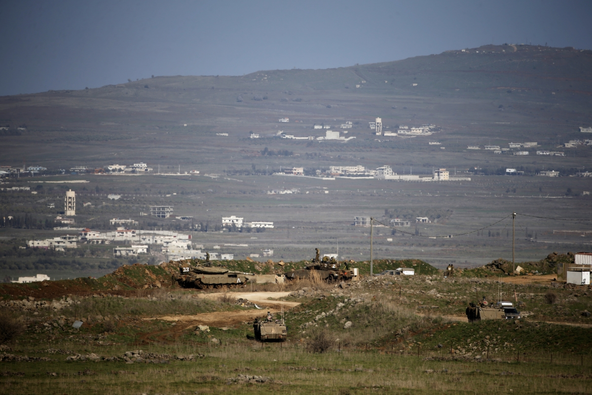 Golan Heights IDF Vehicle hit bomb