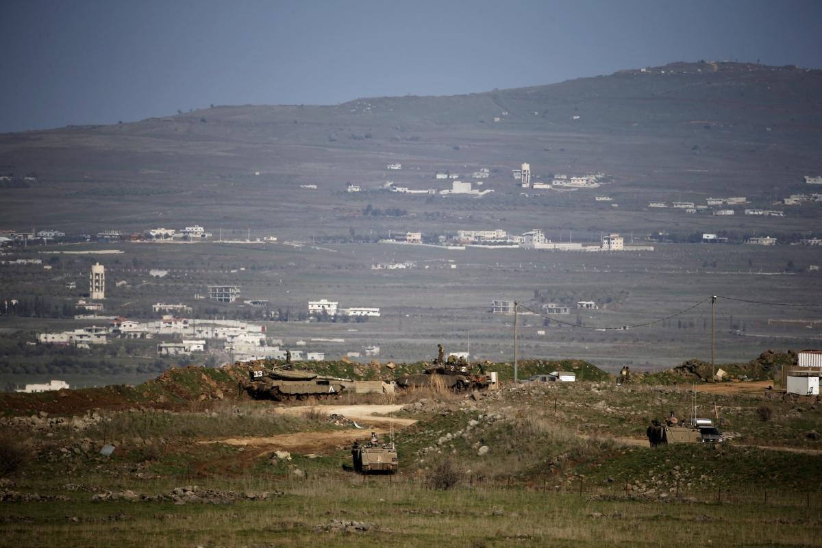 Golan Heights IDF Vehicle hit bomb