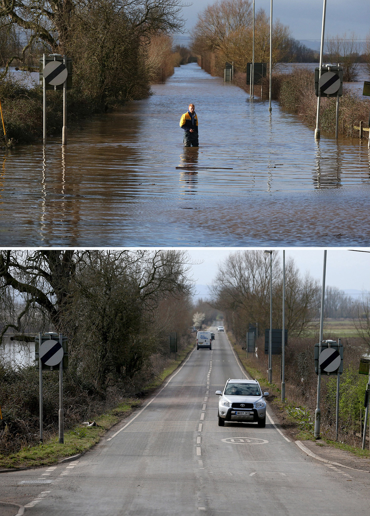 Uk Floods Before And After Photos Of The Somerset Levels