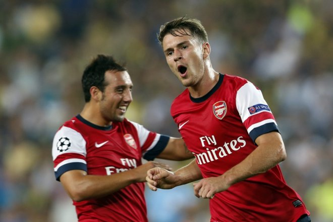 Santi Cazorla and Aaron Ramsey