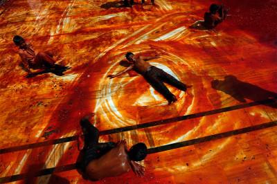 boys play on floor