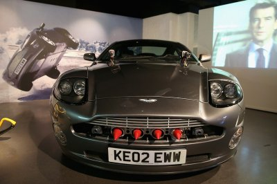 The Aston Martin V12 Vanquish driven by Pierce Brosnan as James Bond car in Die Another Day