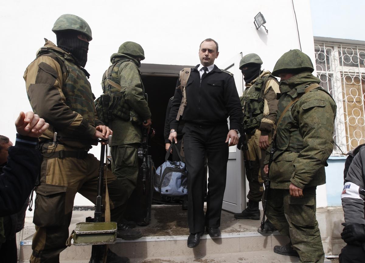 Crimea Ukraine Navy Base Sevastopol Stormed Russian troops