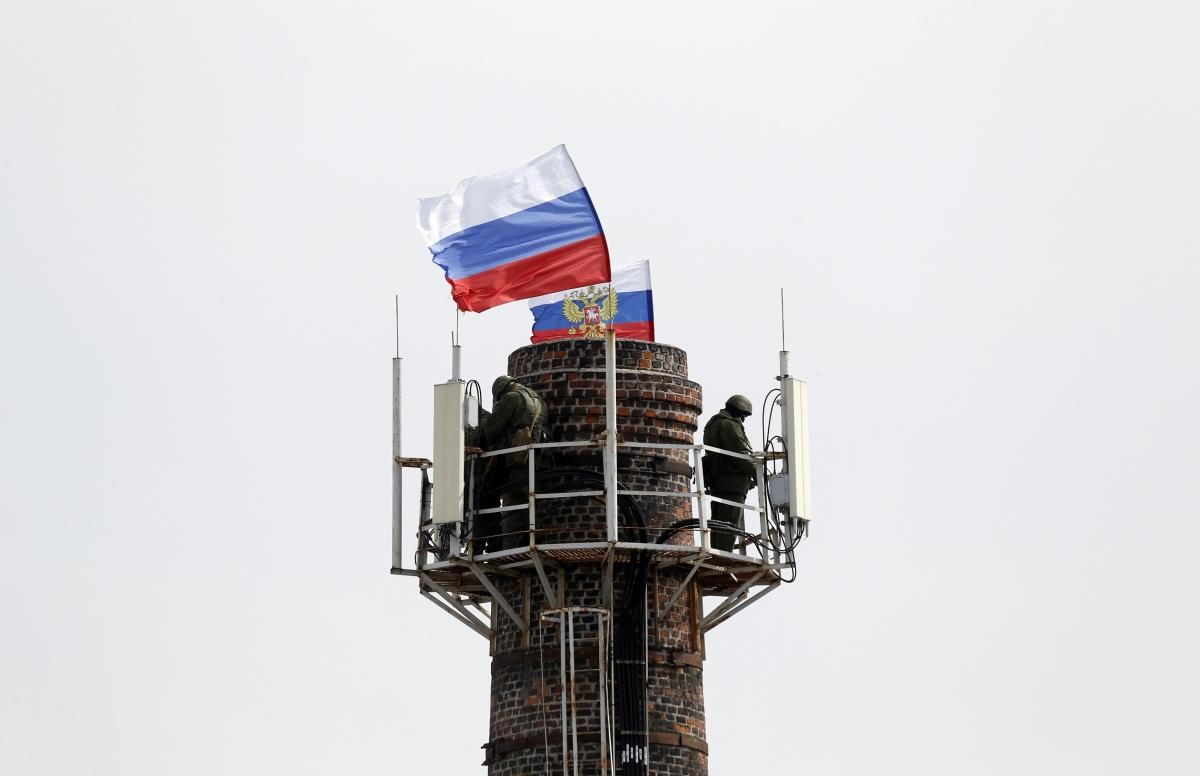 Crimea Ukrainian Navy Base Sevastopol Stormed Russian troops