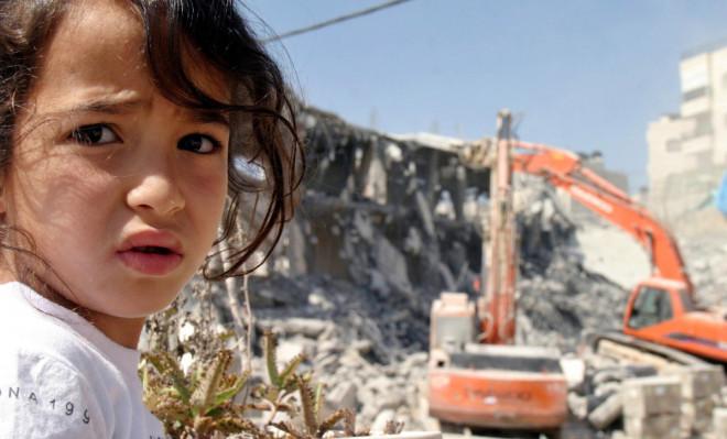 Israel Palestine House Bulldozer Demolition
