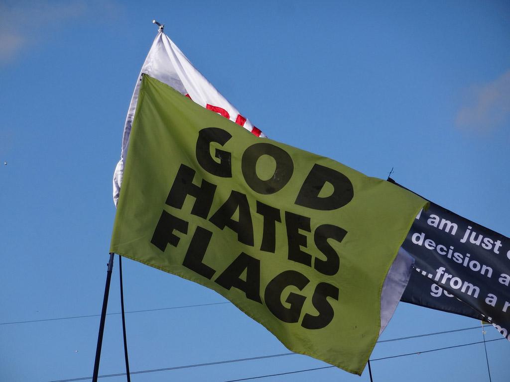god hates flags